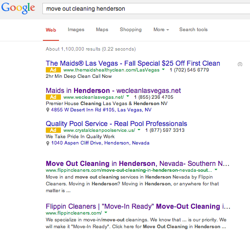 Move Out Cleaning Henderson Screen Shot
